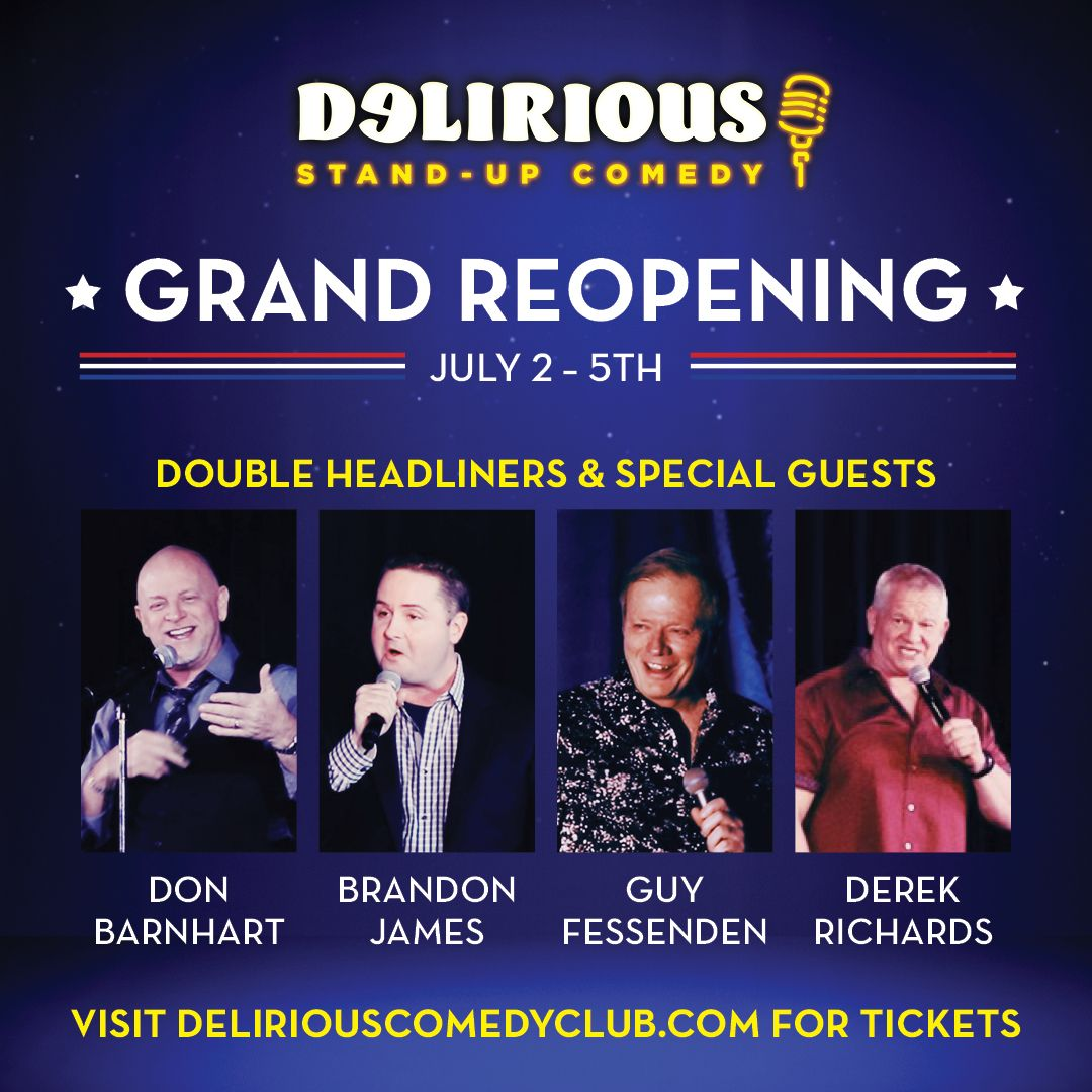 Delirious Comedy Club Grand Reopening In Las Vegas