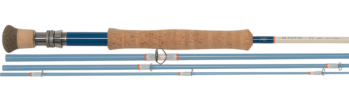 Maven Mission Series Fly Rod in Vintage Blue