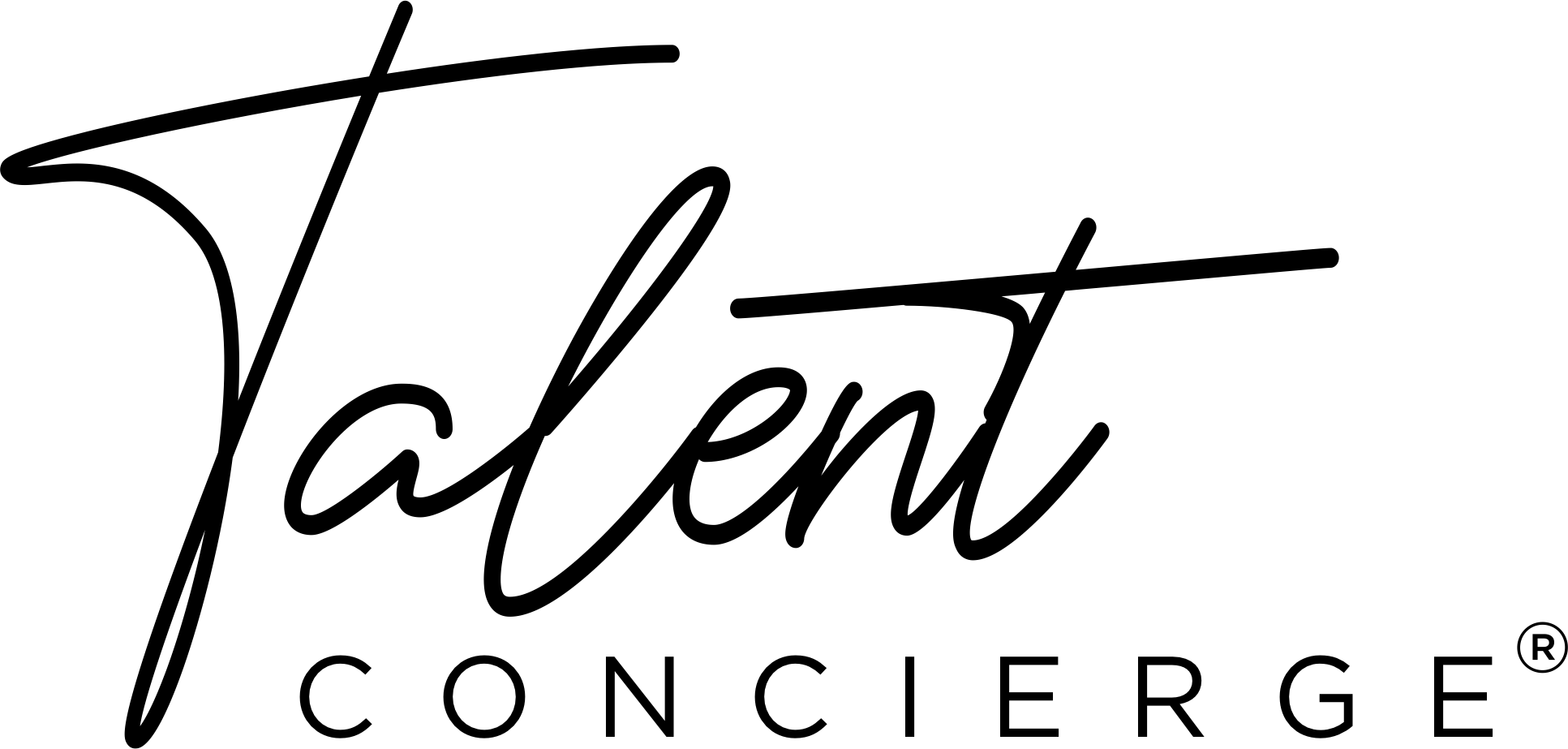 Talent Concierge Logo Stacked Blk
